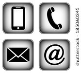 contact buttons set   email ... | Shutterstock . vector #185060345