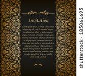elegant ornate background with... | Shutterstock .eps vector #185061695
