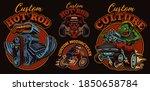 a bundle of vintage... | Shutterstock .eps vector #1850658784