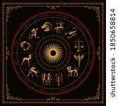 a bundle of vector zodiac signs ... | Shutterstock .eps vector #1850658814
