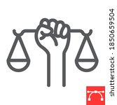civil rights line icon  scale...   Shutterstock .eps vector #1850659504