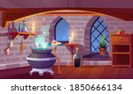magic room interior with witch...