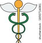 medicine sign icon. editable...