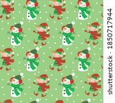 seamless christmas pattern with ... | Shutterstock .eps vector #1850717944