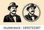 Gentleman  Sir Symbol. Portrait ...