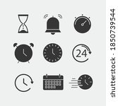 time vector icon set hour glass ...