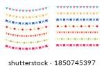 colorful ornamental garland... | Shutterstock .eps vector #1850745397