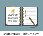 new year's resolutions blank...   Shutterstock .eps vector #1850745694