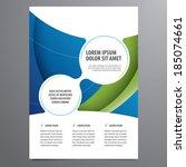 business flyer  brochure vector ... | Shutterstock .eps vector #185074661