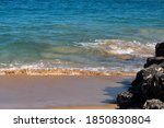Clear Sparkling Sea Water In...