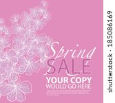 pretty floral spring sale... | Shutterstock .eps vector #185086169