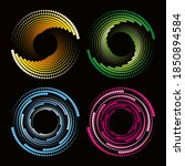 abstract circular dots colorful ... | Shutterstock .eps vector #1850894584