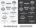 collection of vintage retro... | Shutterstock .eps vector #185090585