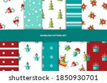 seamlees patterns set with... | Shutterstock .eps vector #1850930701
