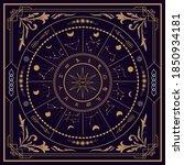zodiac divine magic vintage... | Shutterstock .eps vector #1850934181