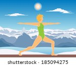 young beautiful woman... | Shutterstock .eps vector #185094275