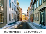 Naroow Street In Winter Town....