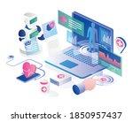 concept of flat design  robot... | Shutterstock .eps vector #1850957437