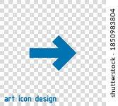 arrow vector icon on an...