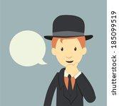 vintage businessman    Shutterstock .eps vector #185099519