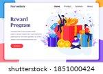 landing page design concept of...   Shutterstock .eps vector #1851000424