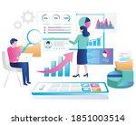 flat design concept  analyze... | Shutterstock .eps vector #1851003514