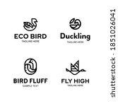 vector bird logo template set.... | Shutterstock .eps vector #1851026041