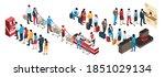 isometric set of human... | Shutterstock .eps vector #1851029134