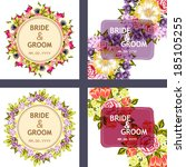 set of wedding invitation cards ... | Shutterstock .eps vector #185105255