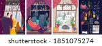 vector illustration. a set of... | Shutterstock .eps vector #1851075274
