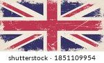 vintage flag of uk. united... | Shutterstock .eps vector #1851109954