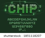 font of printed circuit board ...   Shutterstock .eps vector #1851118207