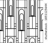 vector art deco architectural... | Shutterstock .eps vector #1851125644