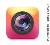 photo or video camera icon ... | Shutterstock .eps vector #1851142474