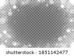 realistic snow flakes oval... | Shutterstock .eps vector #1851142477