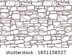 hand drawn texture of brick... | Shutterstock .eps vector #1851158527