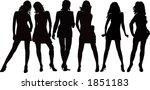 girls posing   silhouette... | Shutterstock . vector #1851183