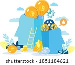 modern flat design. the birth... | Shutterstock .eps vector #1851184621