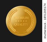 gold award  ribbon as laurel... | Shutterstock .eps vector #1851205174