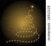 christmas tree isolated over... | Shutterstock .eps vector #18512125