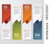 design clean number banners... | Shutterstock .eps vector #185123267