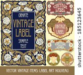 Vector Vintage Items  Label Ar...