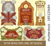 vector vintage items  label art ...   Shutterstock .eps vector #185123684