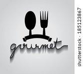 gourmet typo vector  eps 10   Shutterstock .eps vector #185123867