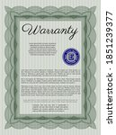 vintage warranty certificate... | Shutterstock .eps vector #1851239377