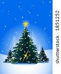 christmas trees | Shutterstock .eps vector #1851252