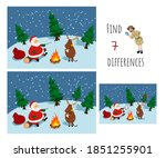 find 7 differences. educational ... | Shutterstock . vector #1851255901