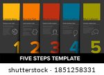 one two three four five vector... | Shutterstock .eps vector #1851258331