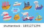 set of childrens cute cartoon...   Shutterstock .eps vector #1851271294