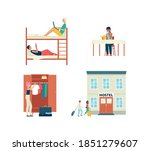 young people characters in... | Shutterstock .eps vector #1851279607